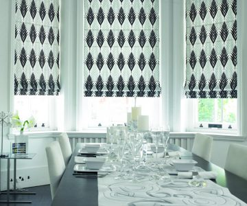 dramatic black Roman Blind
