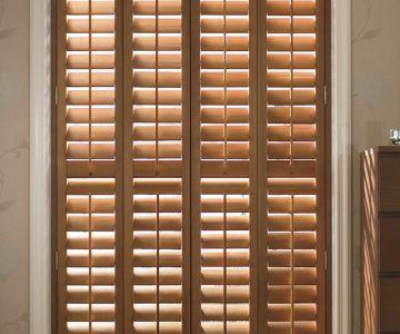 oiled wood shutter